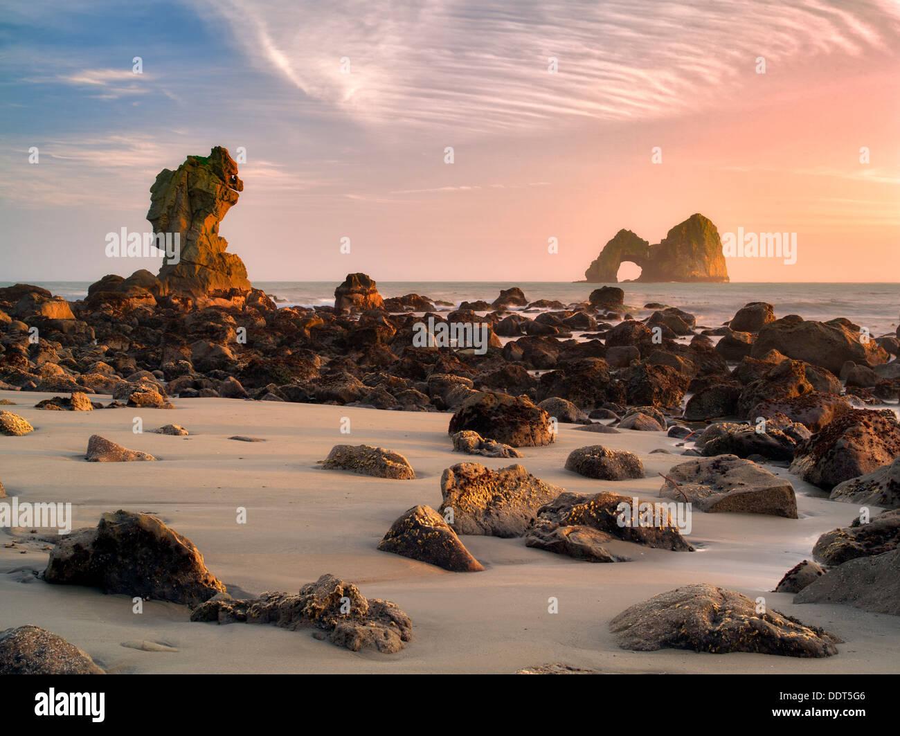 Mack Archat coucher du soleil. Oregon Photo Stock