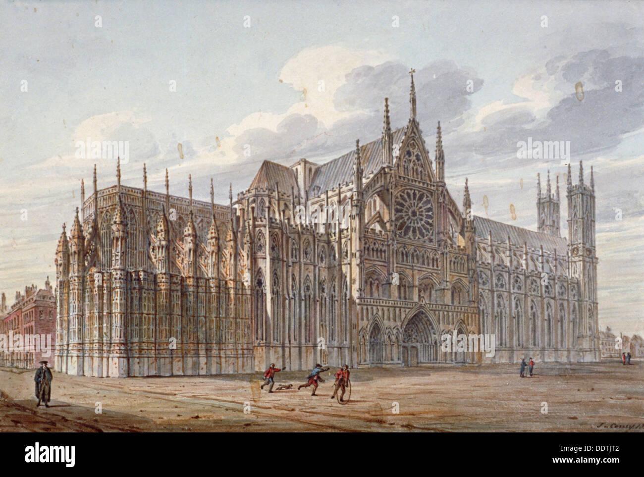 L'Abbaye de Westminster, Londres, 1816. Artiste: John Coney Banque D'Images