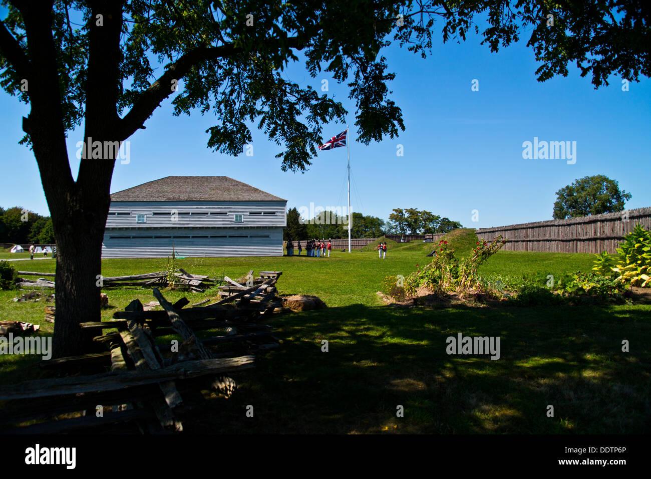 Fort George Niagara sur le lac Ontario Canada Banque D'Images
