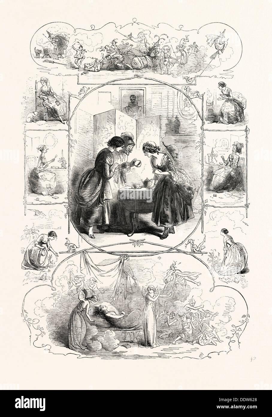 Accueil mythologie, dessiné par PHIZ Photo Stock