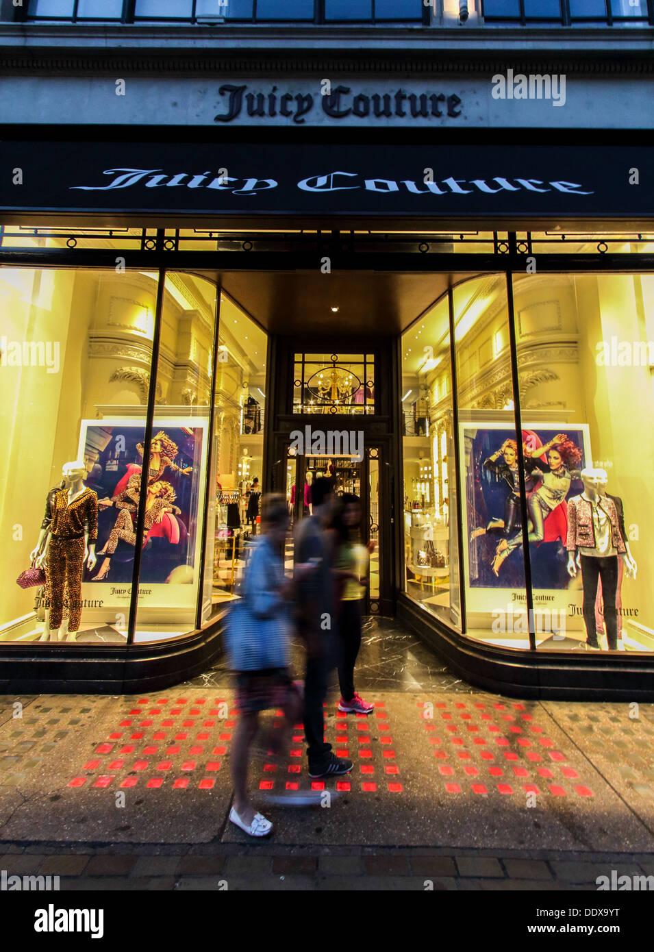 Boutique Juicy Couture en avant de Regents Street, London, UK Photo Stock