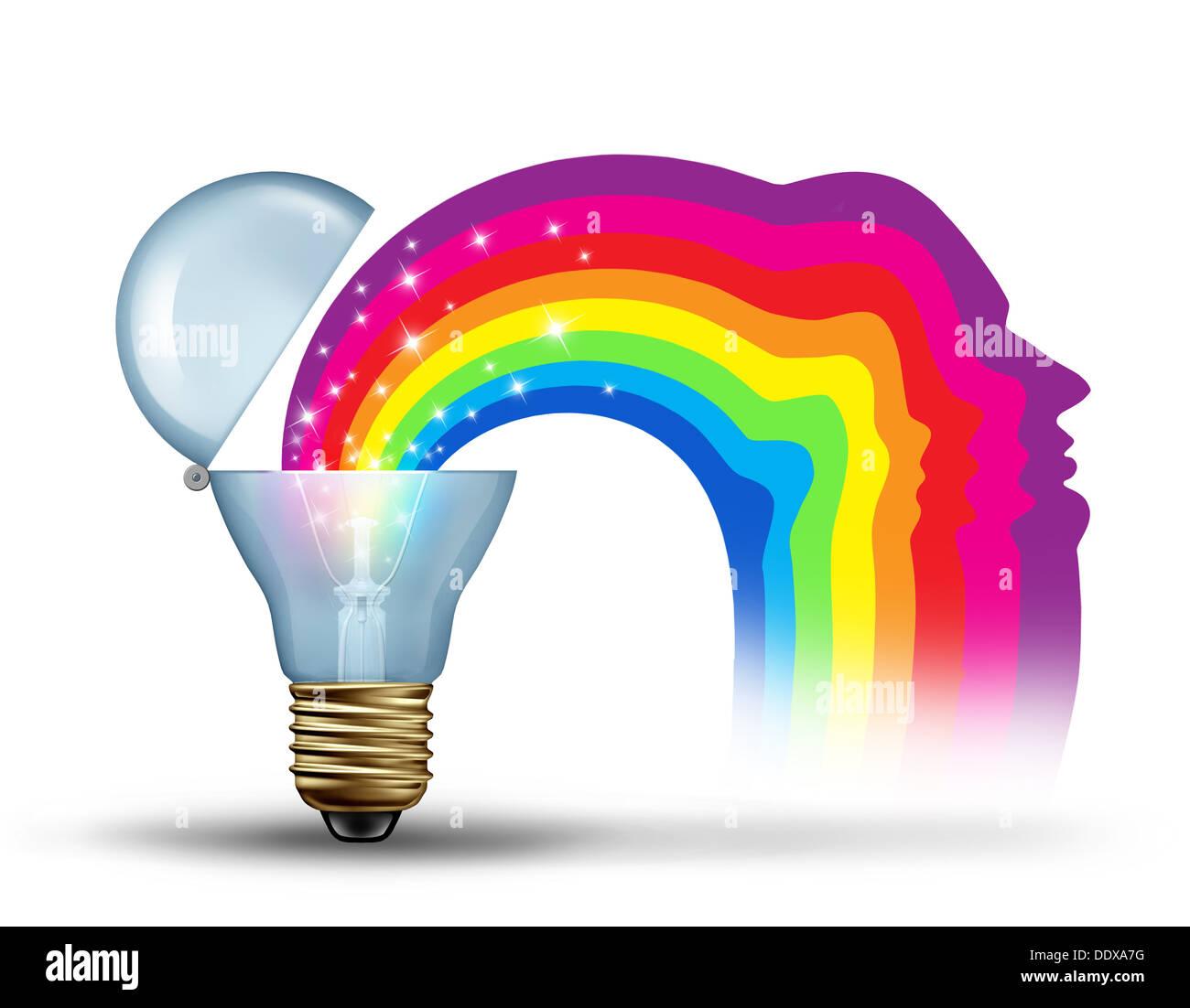 Puissance de l'innovation et la liberté d'un leadership visionnaire comme un concept pour libérer la créativité Banque D'Images
