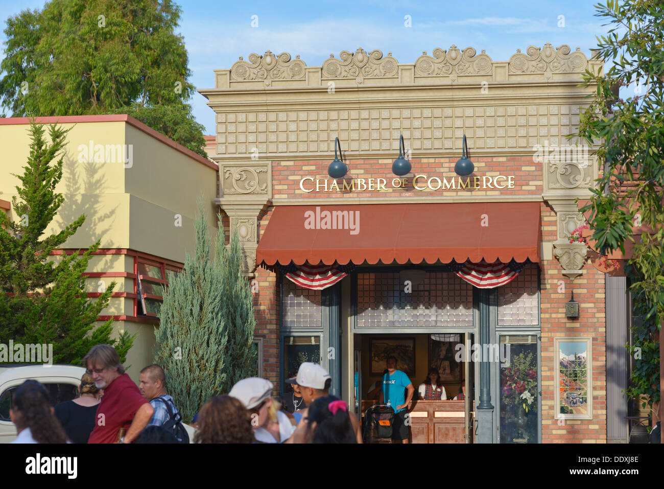 Chambre de Commerce, sur Buena Vista Street, Disneyland, California Adventure Park, Anaheim, Californie Photo Stock