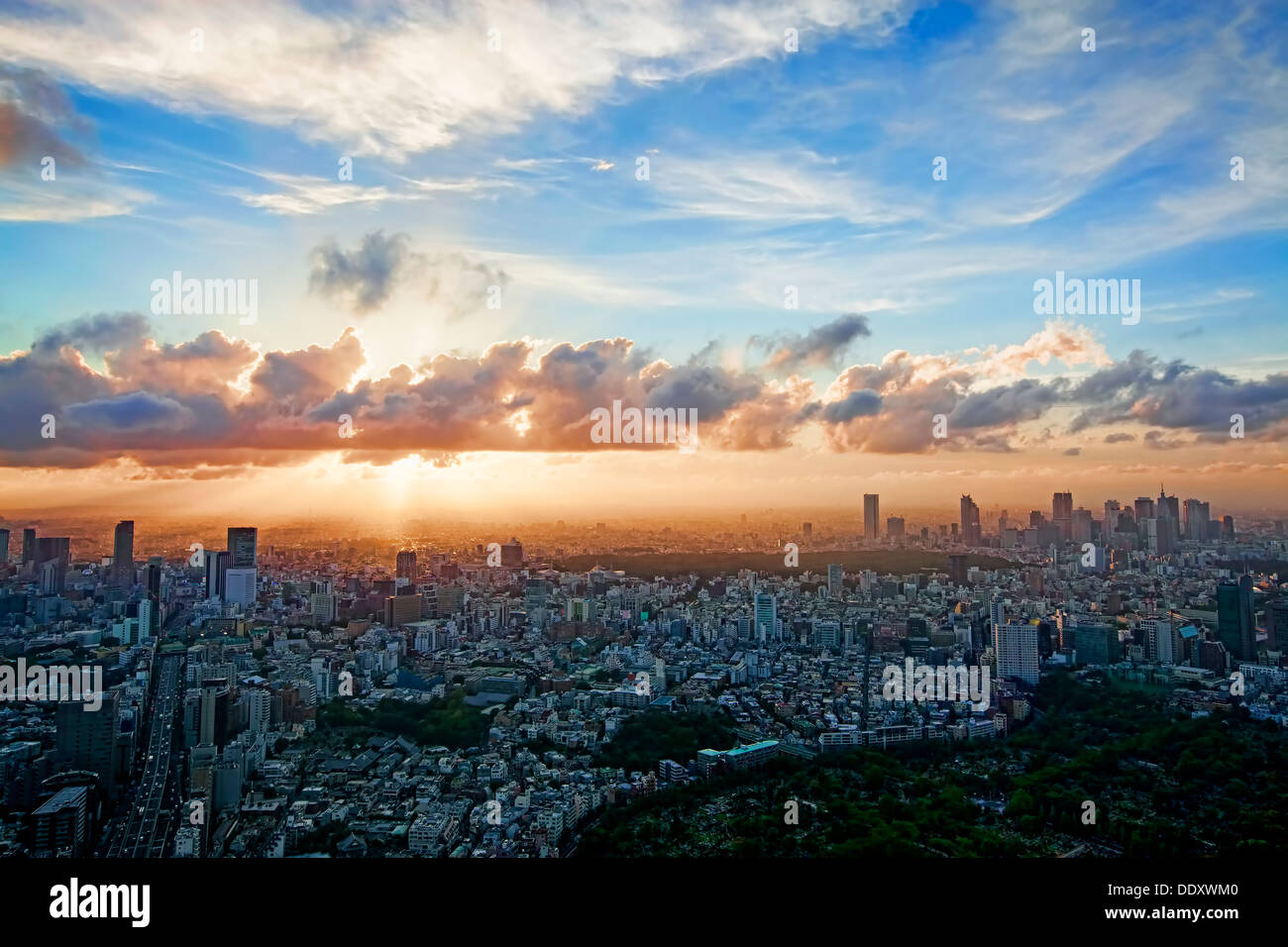 Skyline de Tokyo Photo Stock