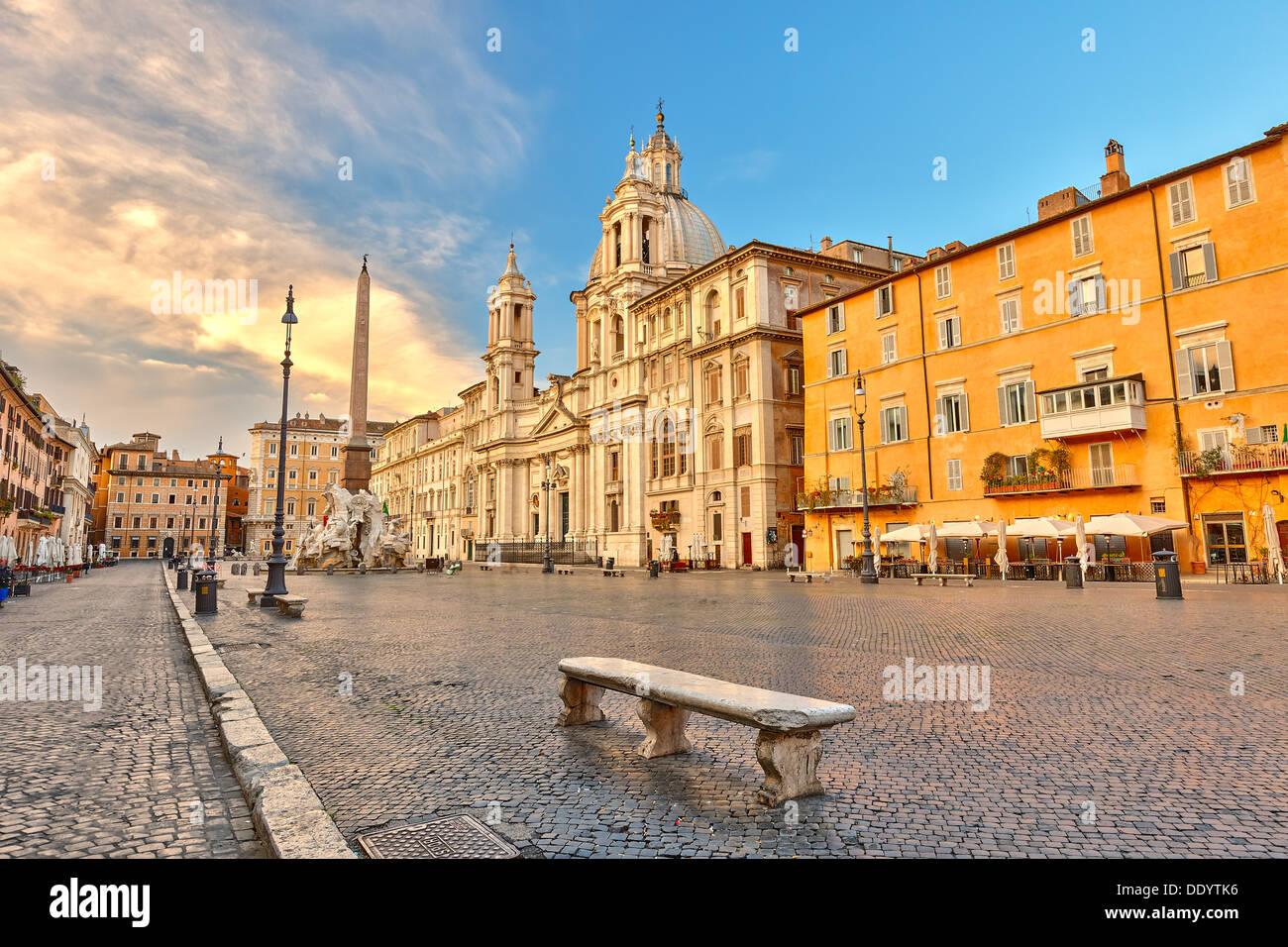 La place Navone à Rome Photo Stock