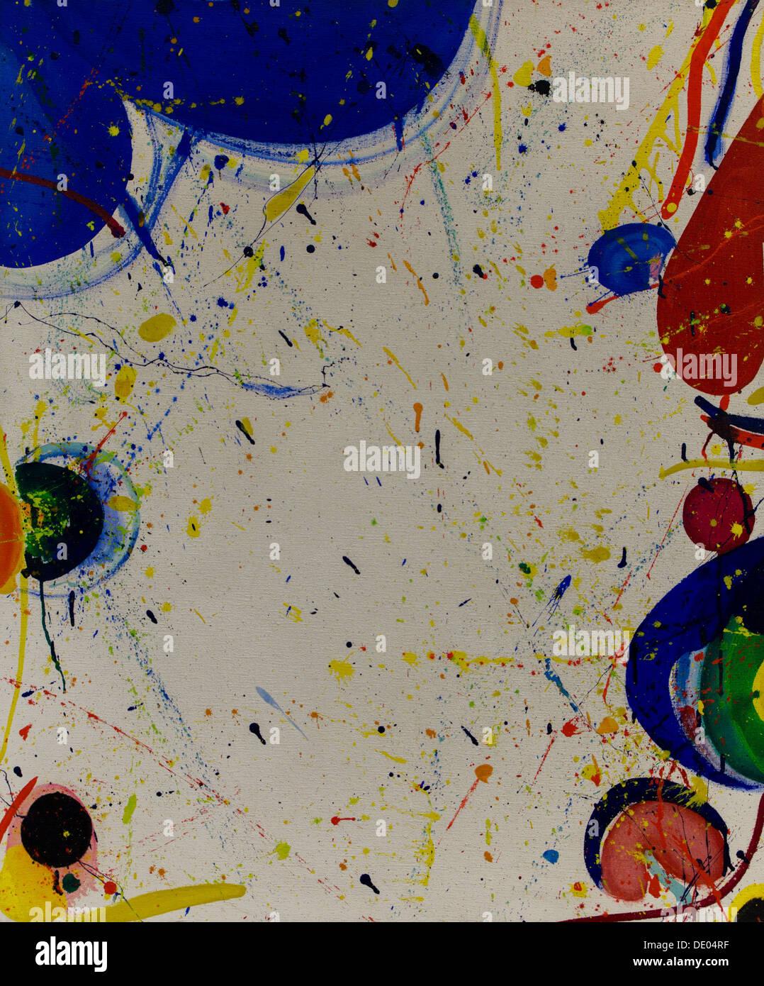20e siècle - Composition, 1963 - Sam Francis Philippe Sauvan-Magnet / Active Museum huile sur toile Photo Stock