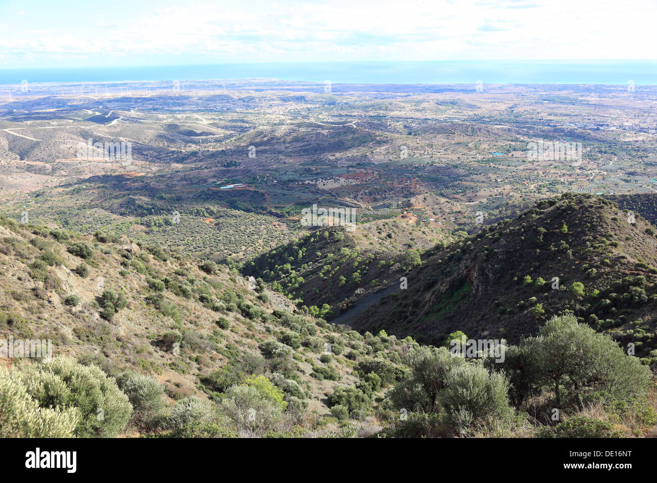 Chypre, de montagnes, de collines à Pyrga Photo Stock