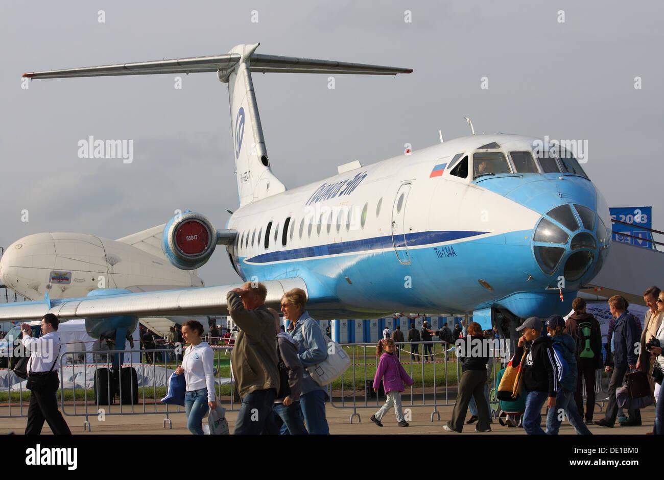 Tupolev Tu-134A au salon MAKS-2013 Banque D'Images