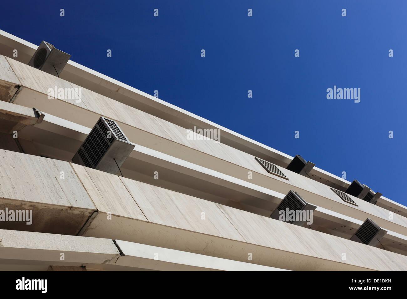 Les bâtiments résidentiels, climatiseurs Photo Stock