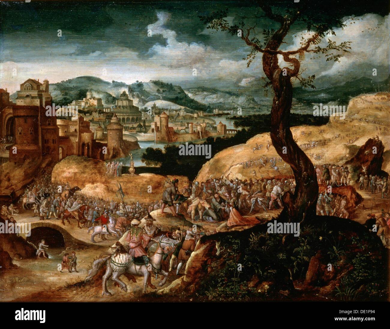 """""""La Passion du Christ', au début du 16e siècle. Artiste: Joachim Patinir Photo Stock"""