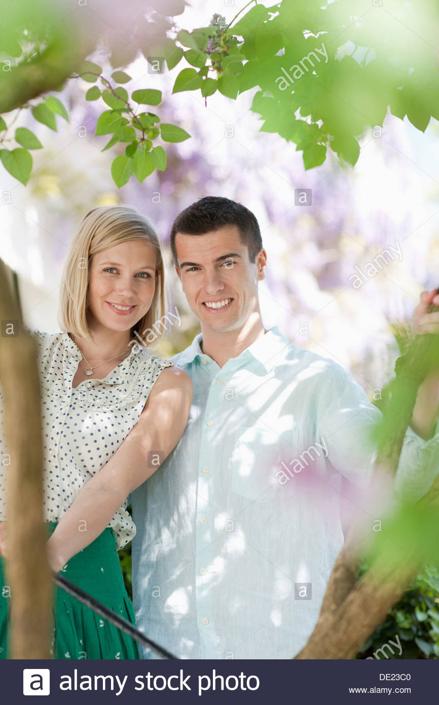 Couple outdoors Photo Stock