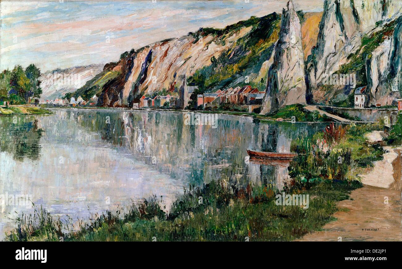 'La Roche à Bayard', fin du 19e ou 20e siècle. Artiste: Pierre Thevenet Photo Stock
