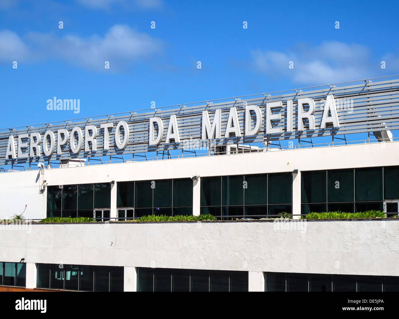 Aéroport de Madère Photo Stock