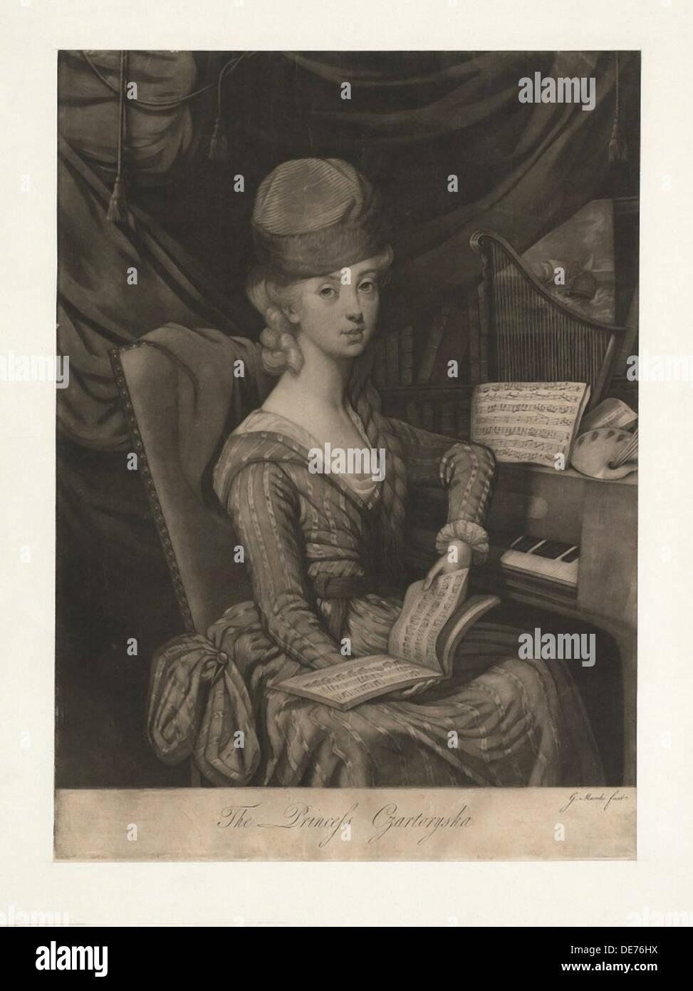 Portrait de la princesse Izabela Czartoryska (née Comtesse Fleming) (1746-1835), 1777. Artiste: Photo Stock