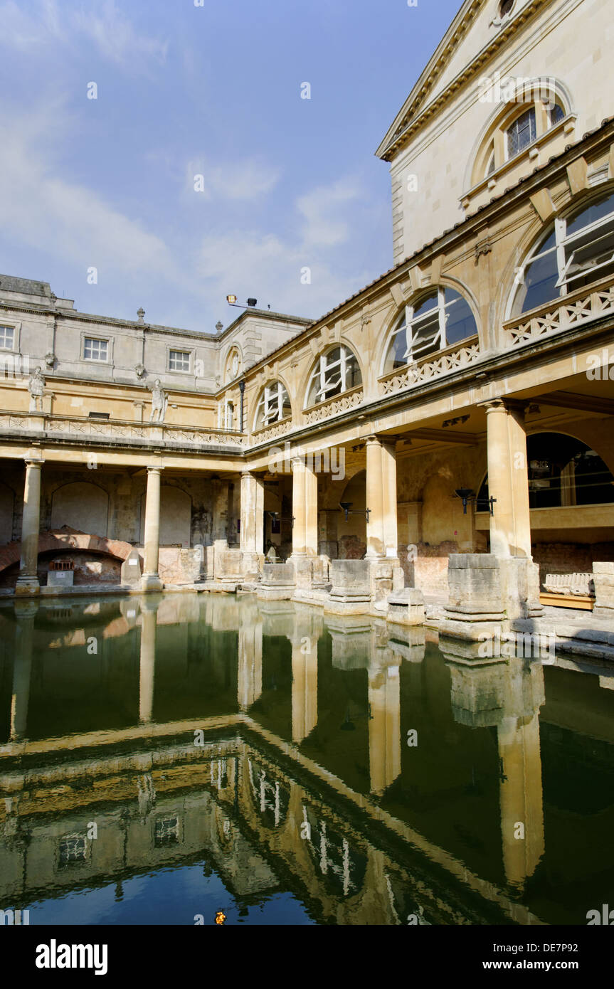 Roman Bath House, bains romains, Bath, Somerset, Angleterre, RU, FR. Photo Stock