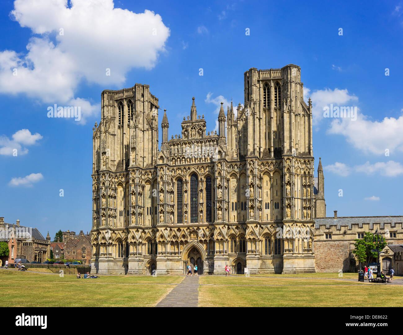 La cathédrale de Wells, Somerset, UK Banque D'Images