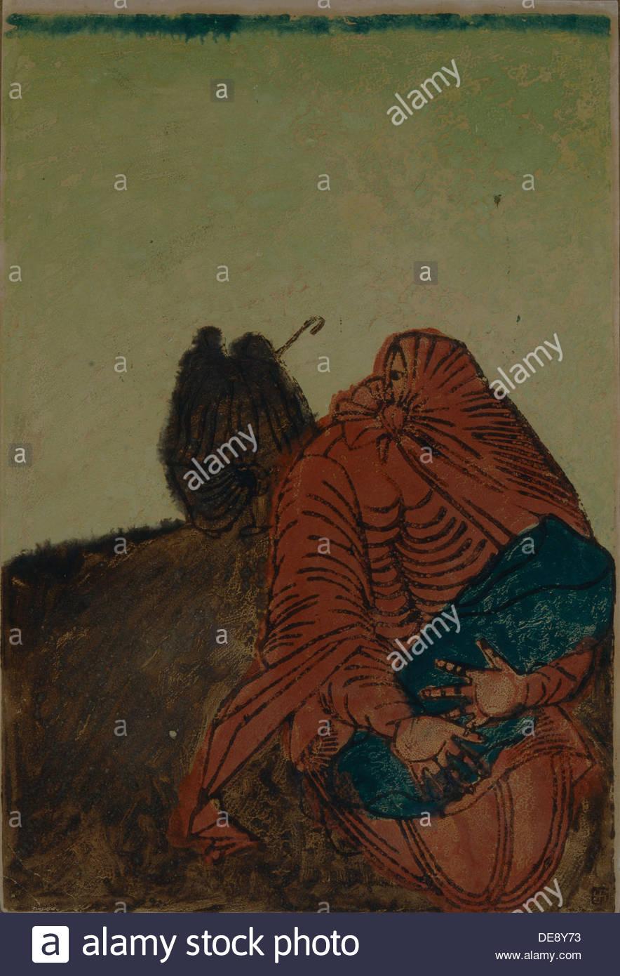 Dessin futuriste, années 20. Artiste: Bubnova, Varvara (1886-1983) Photo Stock
