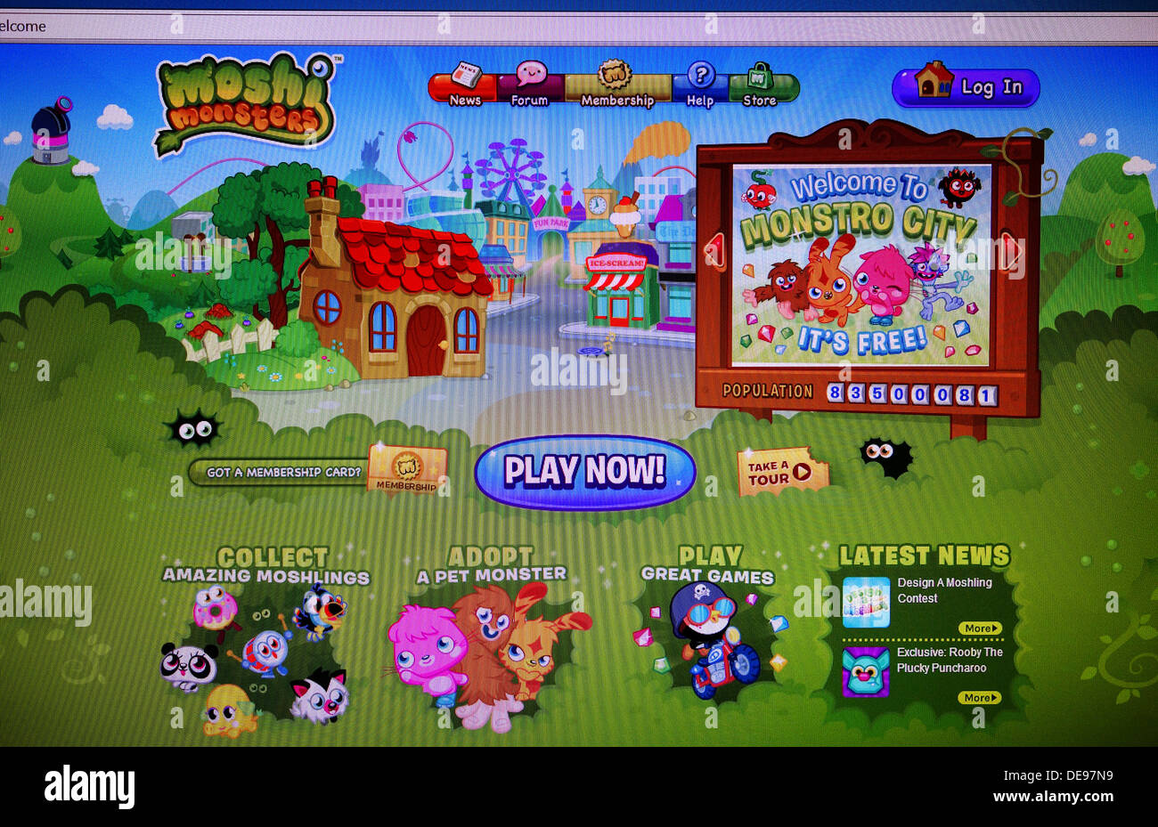 Moshi Monsters jeu internet Photo Stock