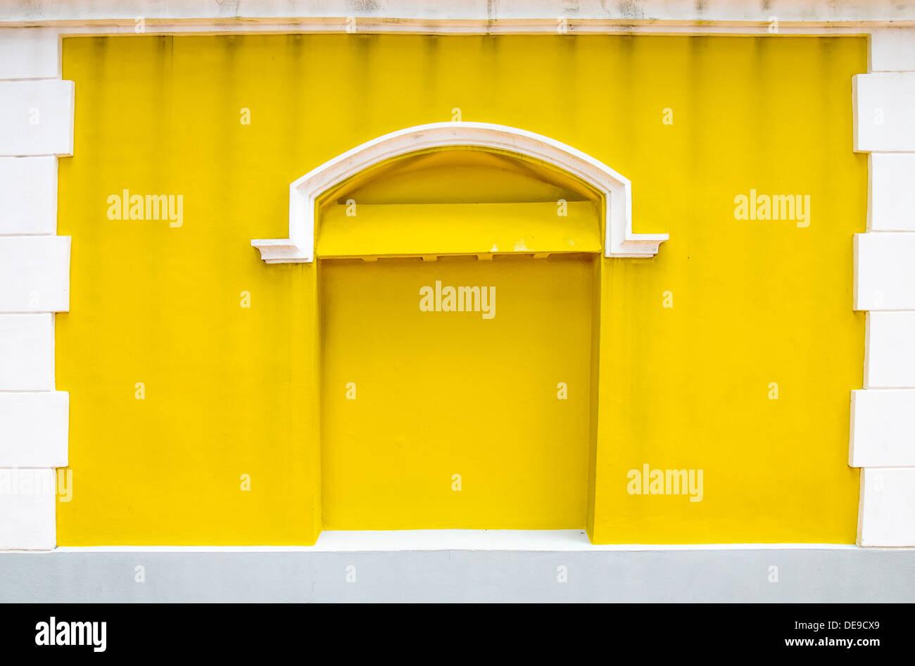 Ciment Mur Jaune Couleur Design Extérieur Surface Libre Fond