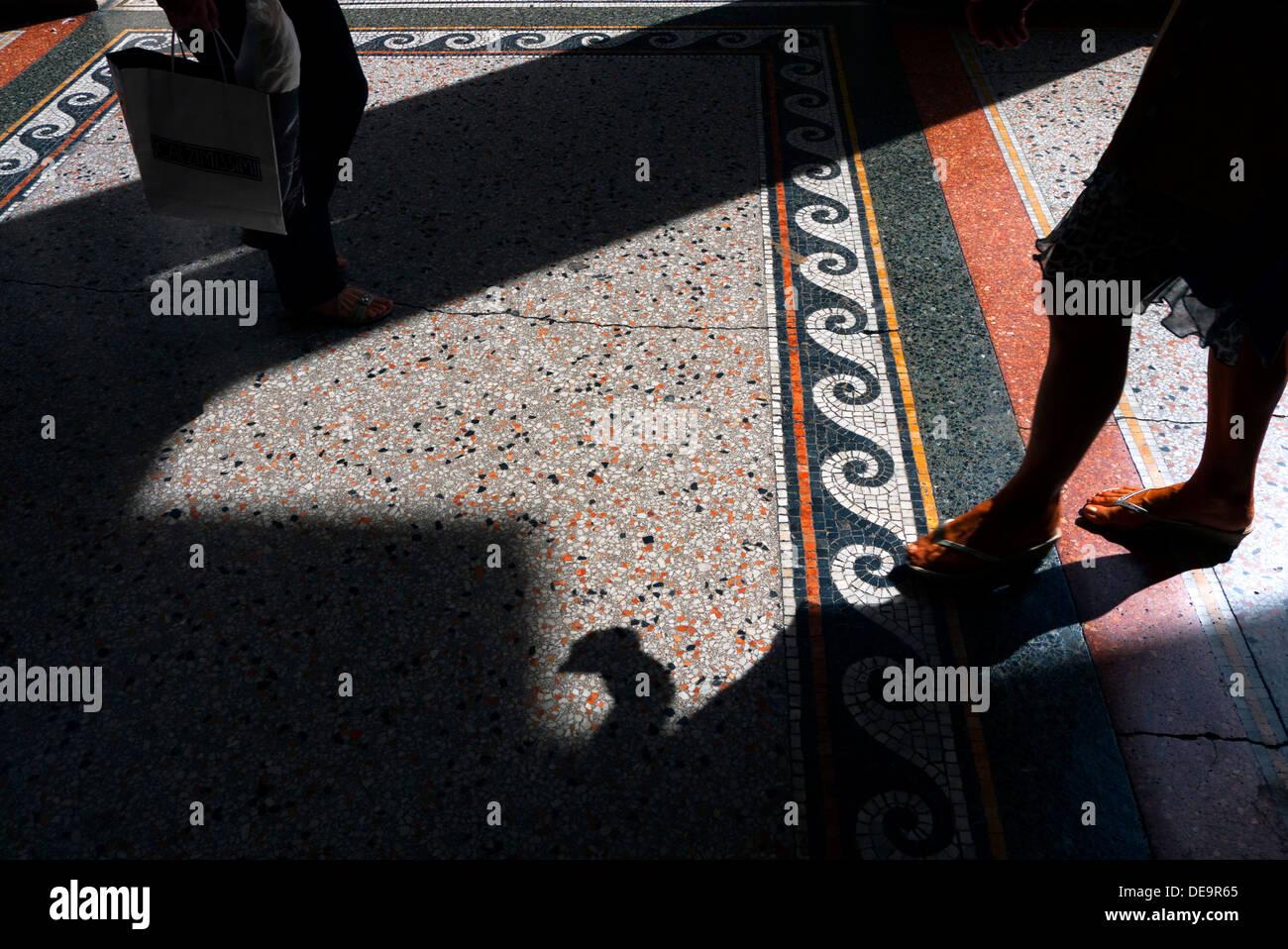 Mosaïques de la chaussée en Chieti, Italie. Photo Stock
