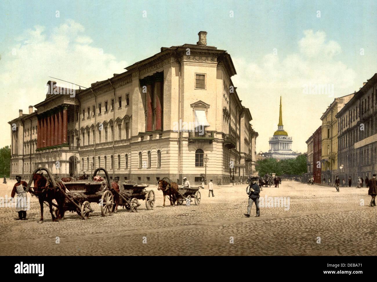 Les bureaux de l amirauté et de la guerre saint pétersbourg
