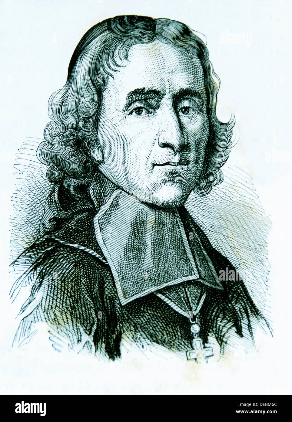 François de Salignac de la Mothe-Fénelon, plus communément connu sous le nom de François FENELON 6 août 1651 - 7 janvier 1715, était un Photo Stock