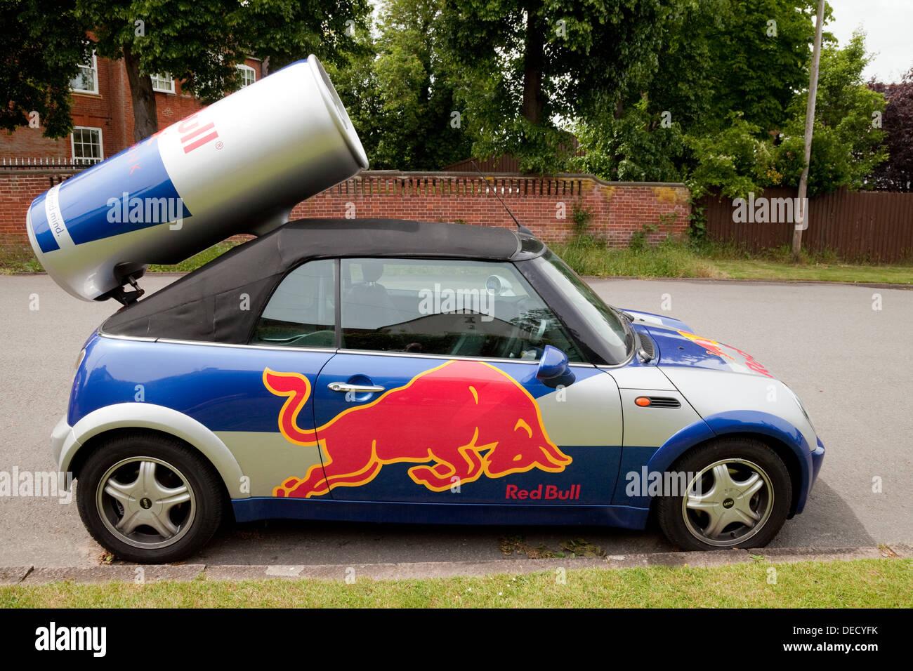 Red Bull mini car, UK Photo Stock