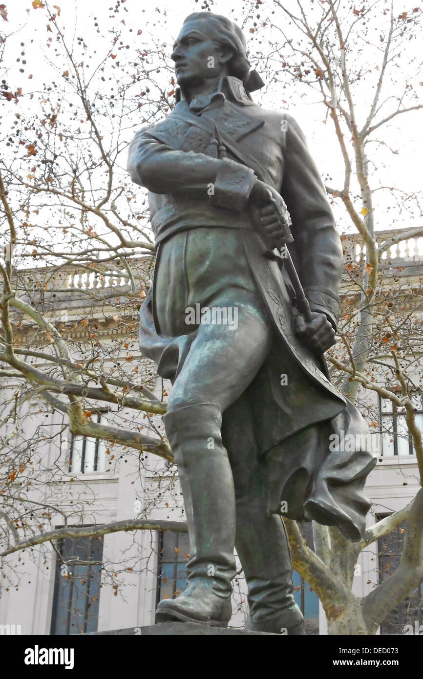Statue de Francisco de Miranda à Logan Circle, Philadelphie, 1977 installé par Lorenzo Gonzalez. Le bronze. 125. en hauteur . La propriété de la ville de Philadelphie. Référence PA001092 Smithsonian IAS Banque D'Images