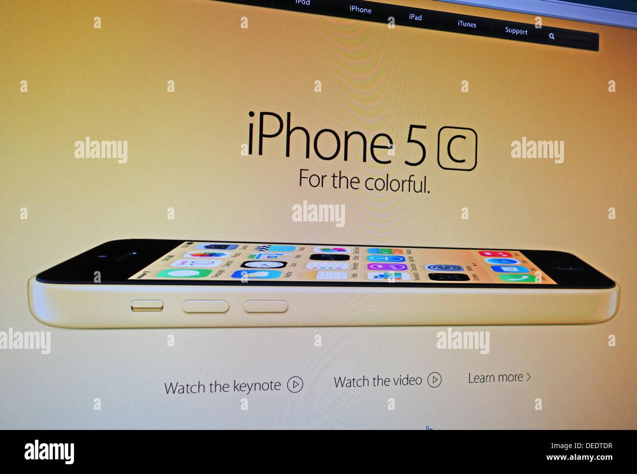 C'iPhone 5 Publicité internet Photo Stock
