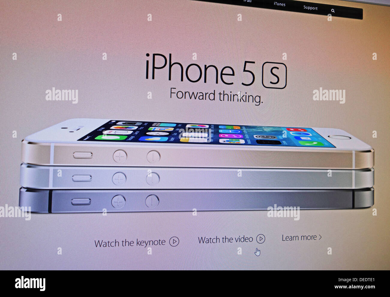 IPhone 5 s Publicité internet Photo Stock