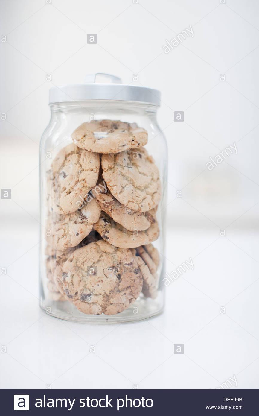 Bocal de cookies Photo Stock