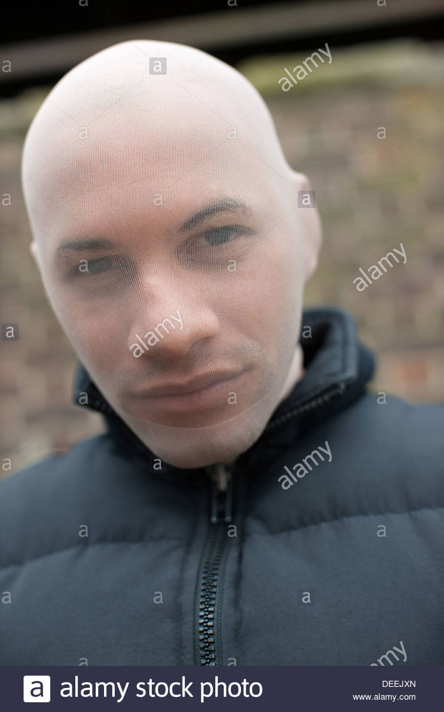 Homme au masque de ski Photo Stock