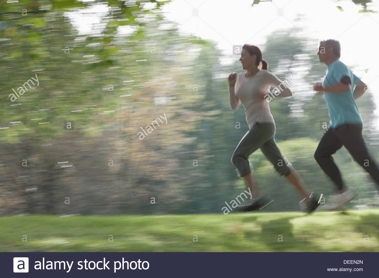 Couple running ensemble Photo Stock