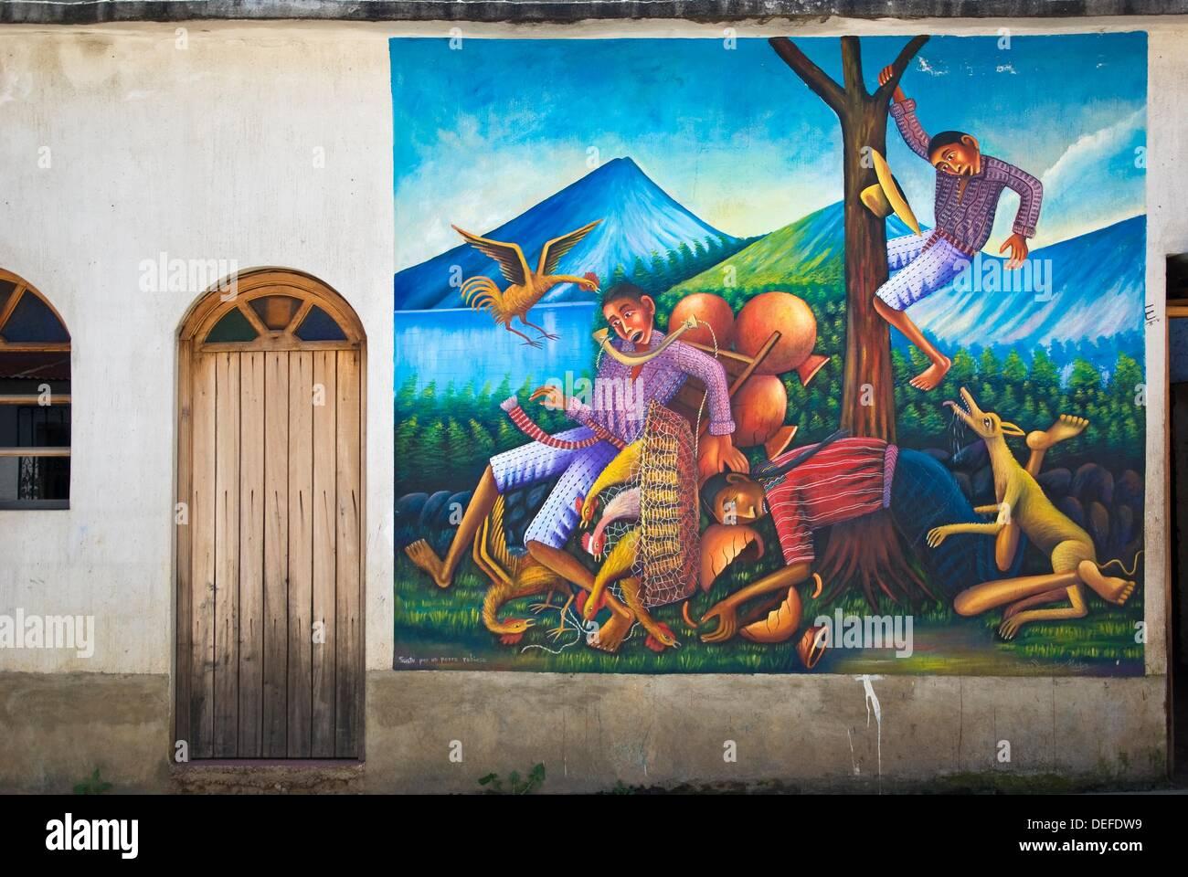 Peinture Murale Sur Le Mur Extérieur D Une Maison à San Juan