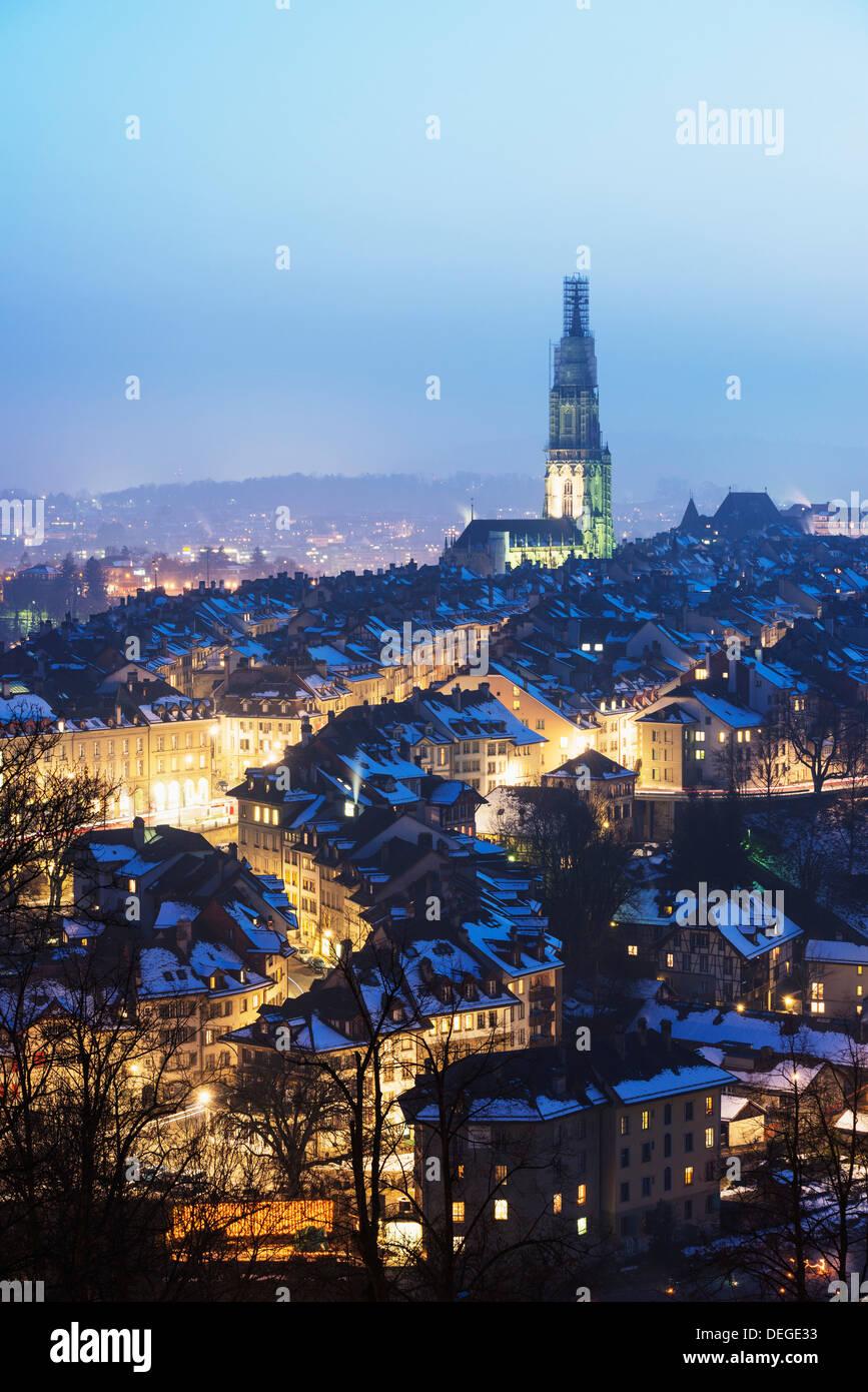 Vue sur la ville, Berne, Suisse, Europe Photo Stock