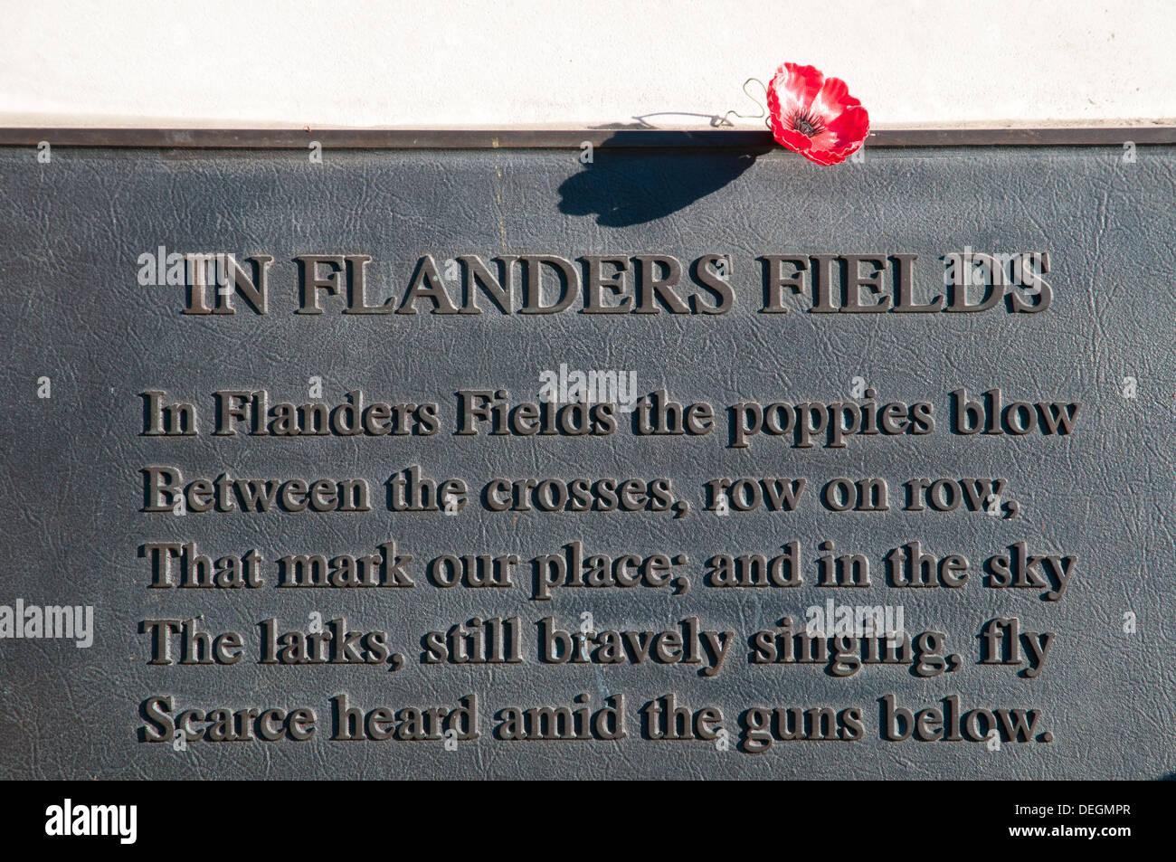 La Première Guerre Mondiale Poème In Flanders Fields De