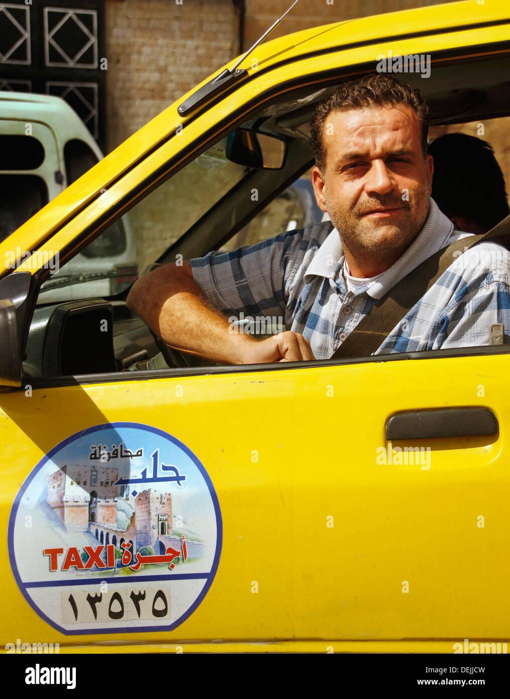 Taxi, Alep, Syrie Photo Stock
