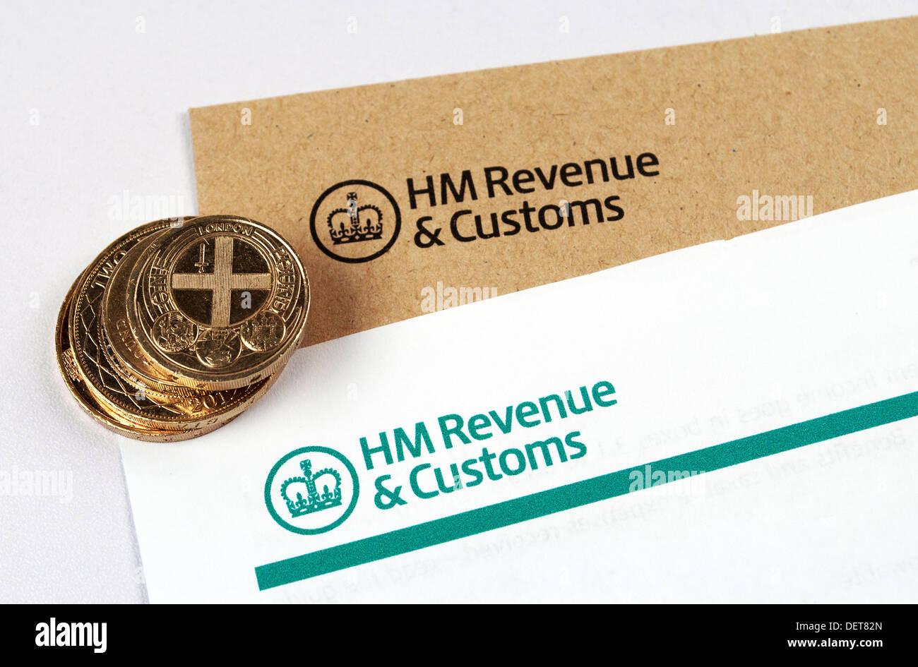 Déclaration de revenus de HMRC Photo Stock