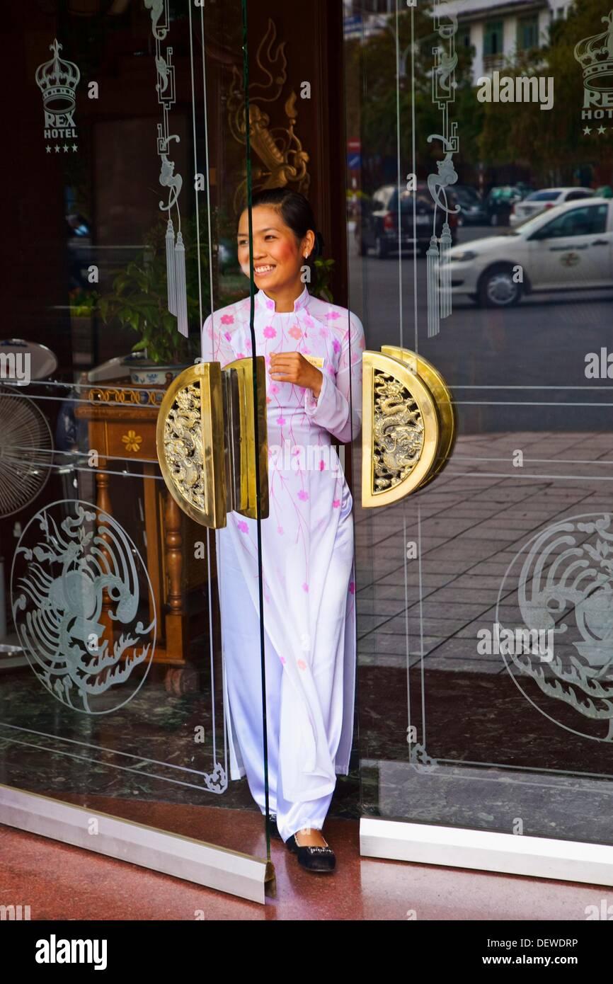 Paradise Café Rex Hotel. Ho Chi Minh Ville (anciennement Saigon). Le Vietnam du Sud. Photo Stock
