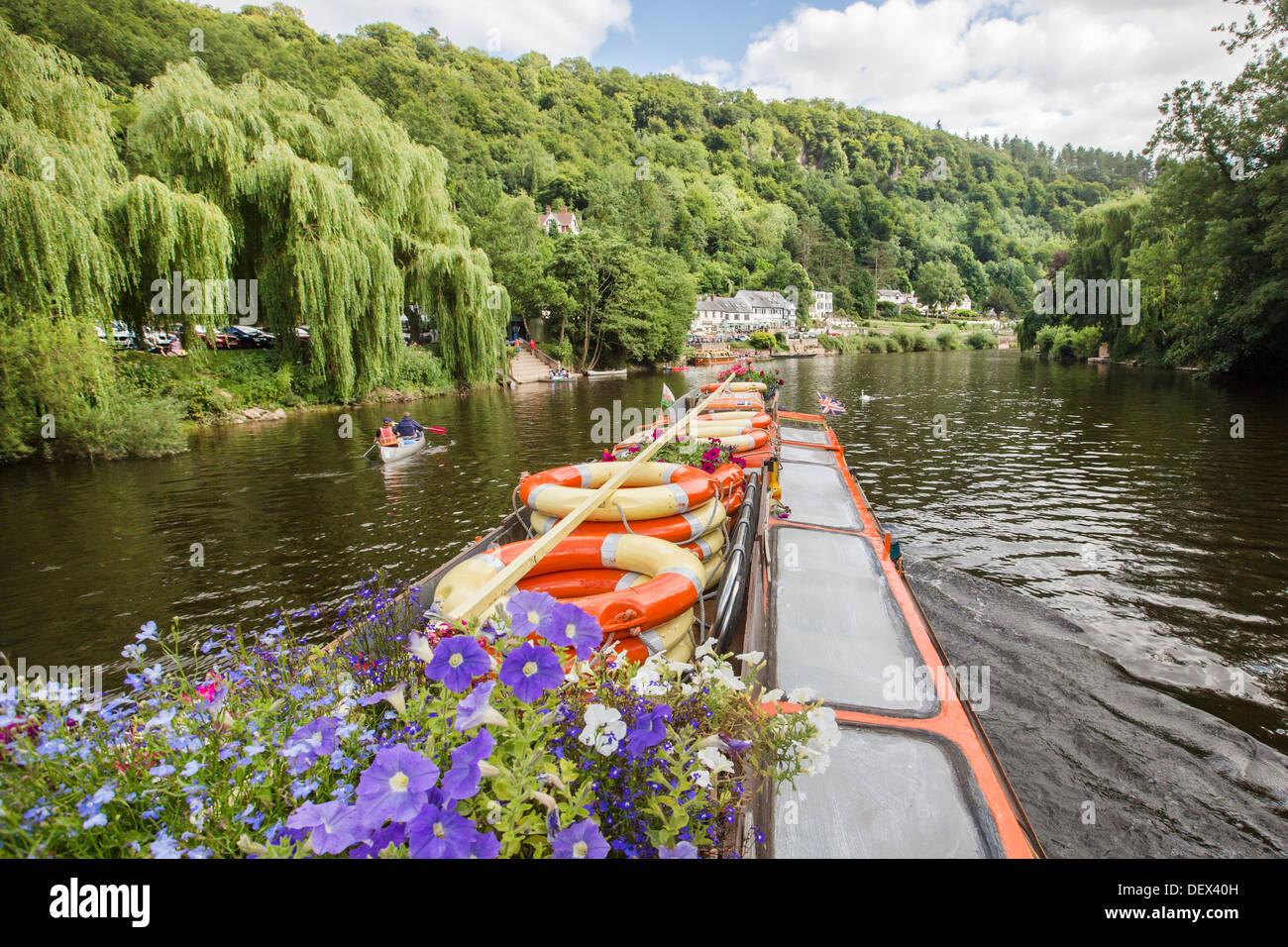 La Loire informations touristiques et de voyage forêt de Dean et de la vallée de Wye River et frontières Monmouthshire Herefordshire Photo Stock