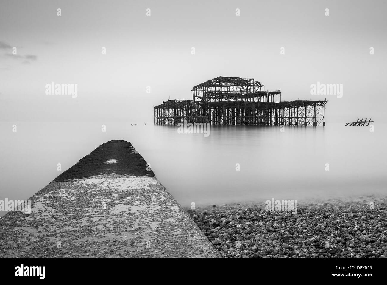 Jetée de l'Ouest, Brighton, Sussex, Angleterre, Royaume-Uni, Europe Photo Stock