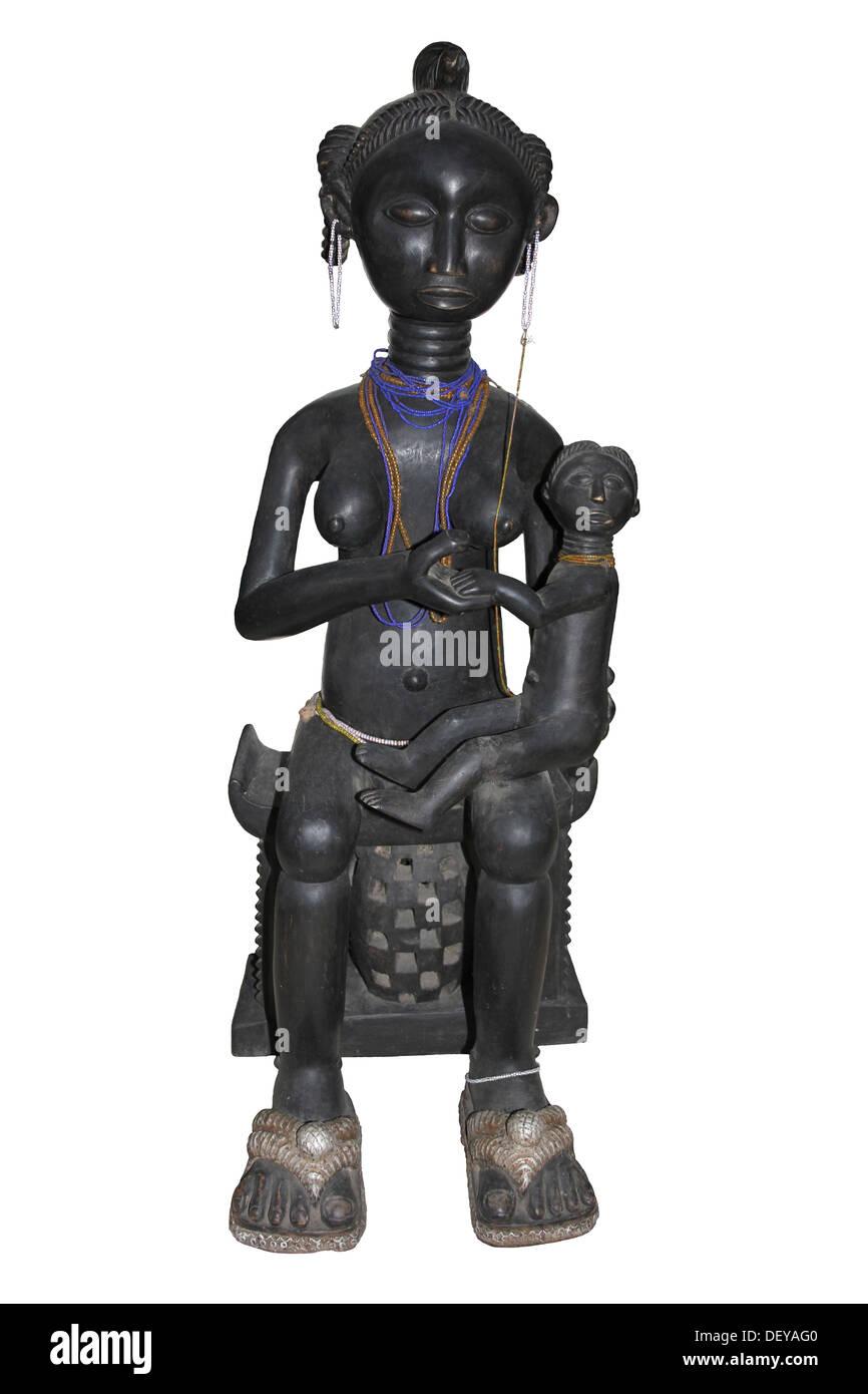 La figure de la maternité, Fante, Ghana Photo Stock