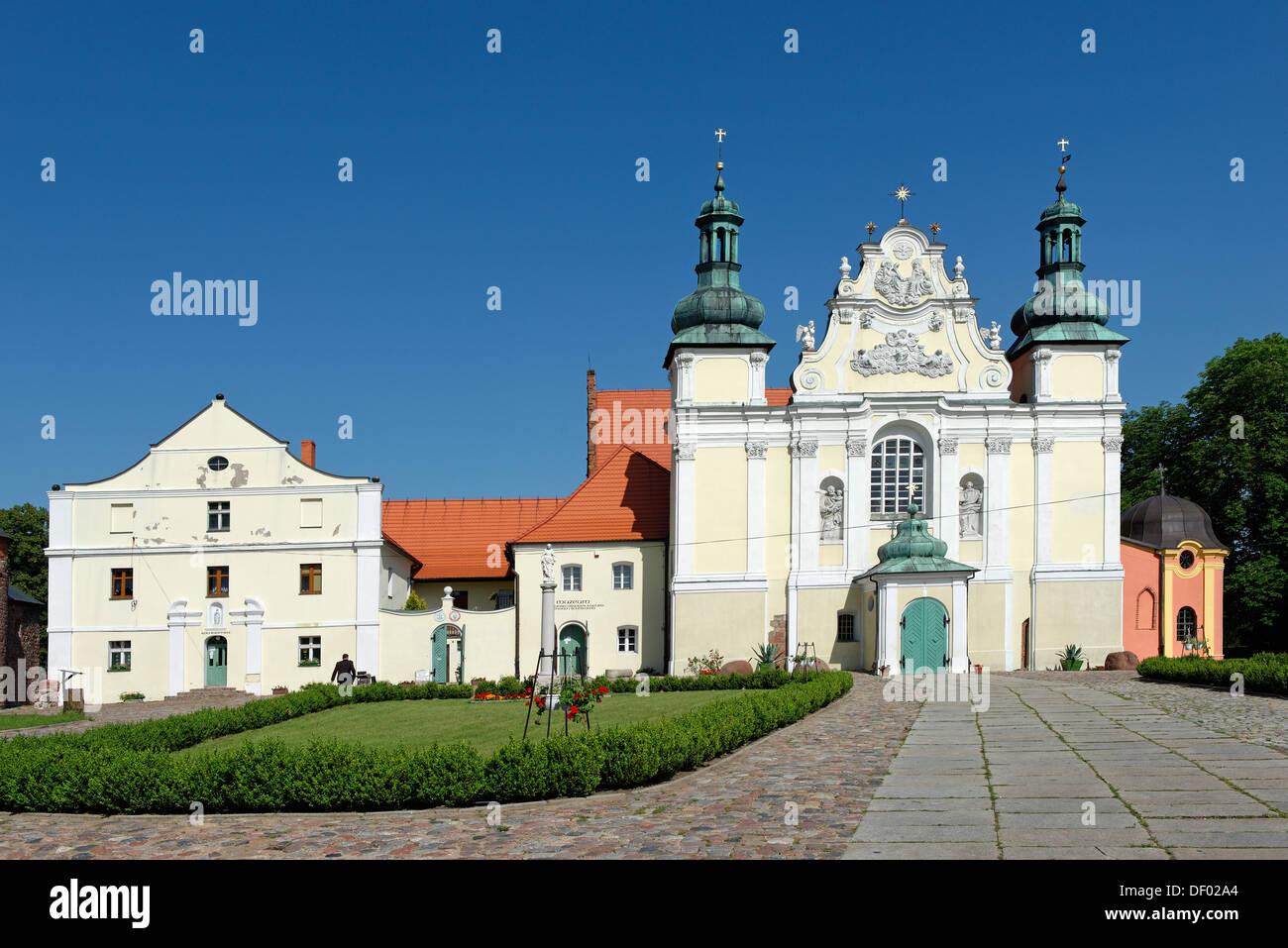 Moniales prémontrés''Église de la Sainte Trinité, Strzelno, Pologne, Europe Photo Stock