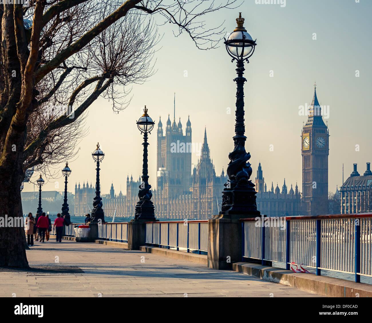 Big Ben et des chambres du parlement, Londres Photo Stock
