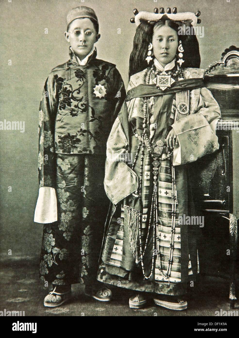 Carte Inde Sikkim.Roi Et Reine De Sikkim Inde Carte Postale Vers 1920 Banque D