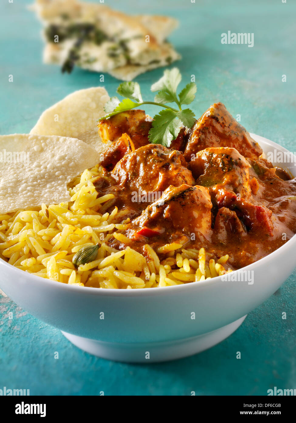 Poulet au Curry Indien Balti Photo Stock