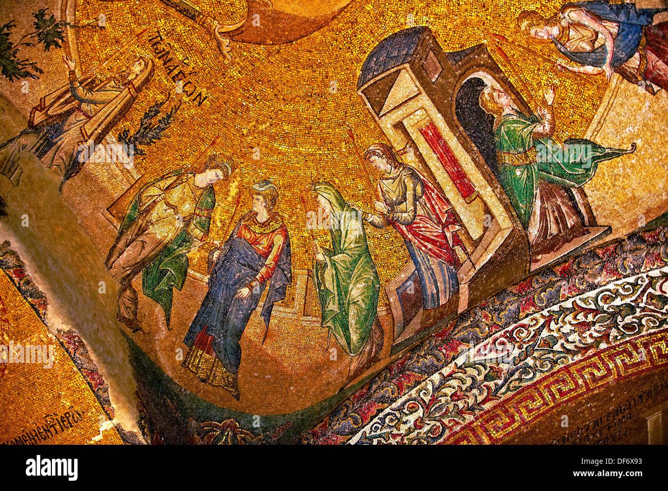 Le 11e siècle église Byzantine du Saint Sauveur à Chora , musée Kariye, Istanbul, Turquie Photo Stock