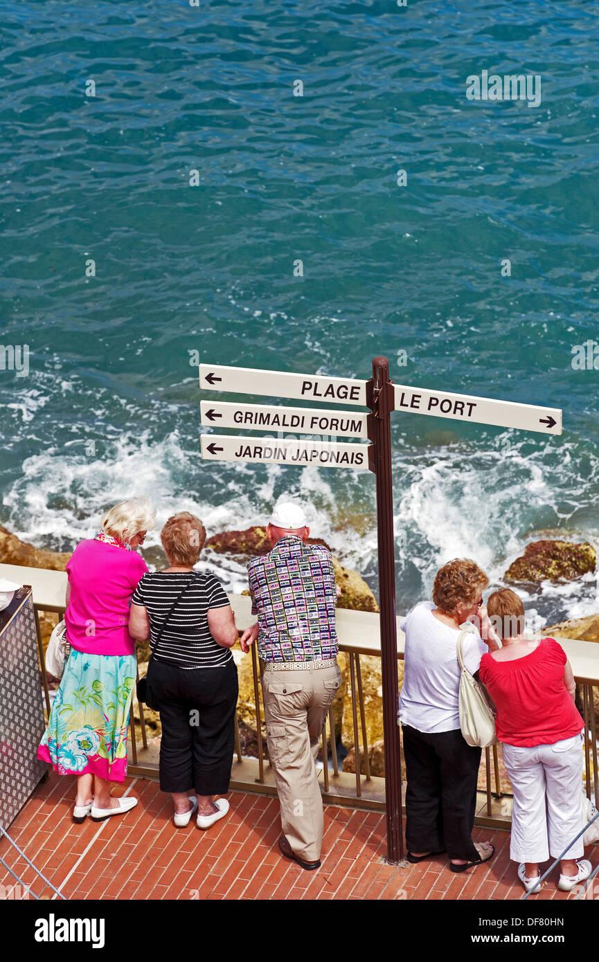 Europe, France, Principauté de Monaco, Monte Carlo. retraités à Monaco. Photo Stock