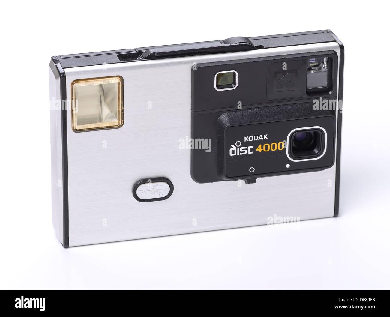 Ancienne rétro vintage appareil photo Kodak disc 4000 Photo Stock