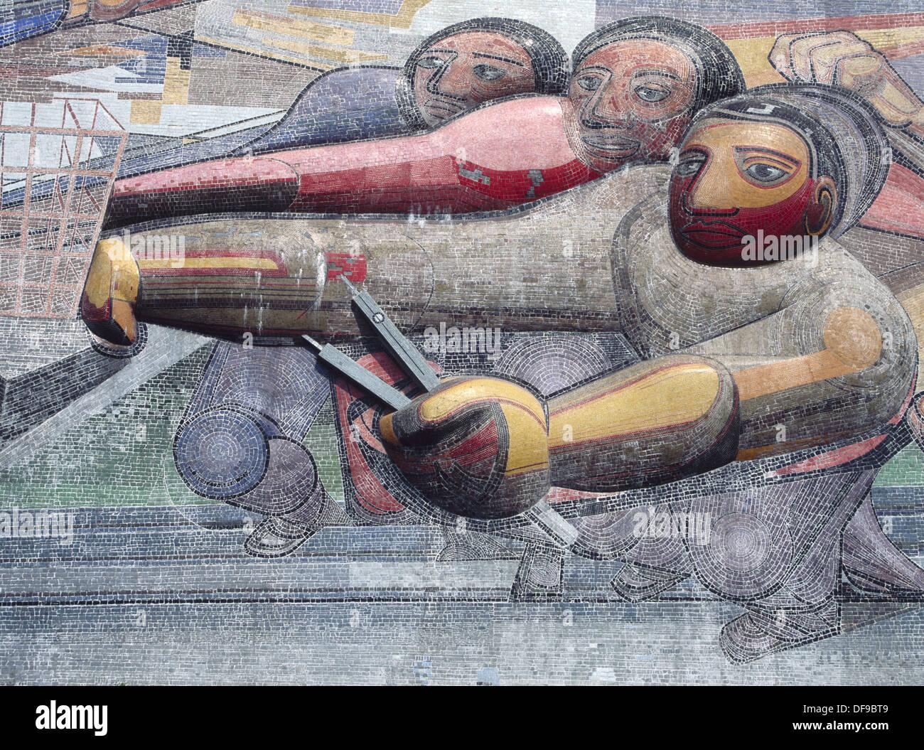 Siqueiros La Peinture Murale Université Nationale Autonome